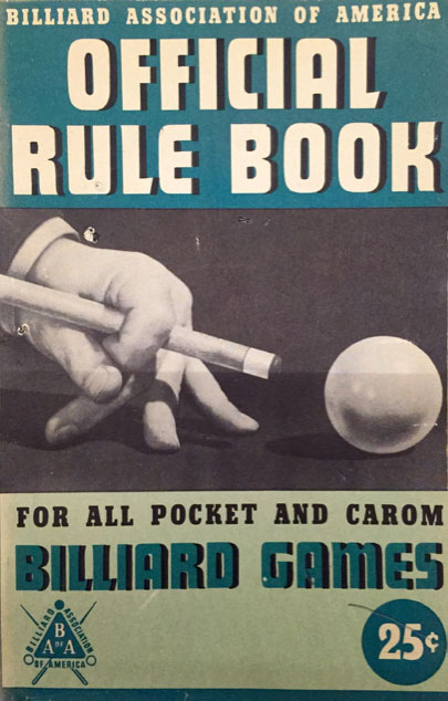 Poker pocket billiards rules BCA 1945 - 1