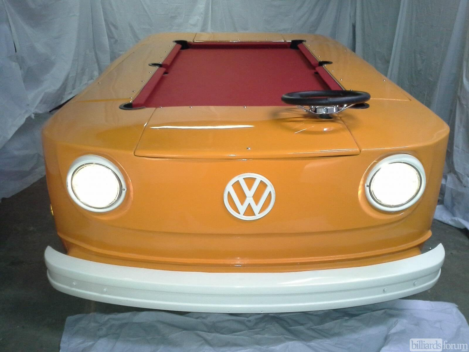 1973 VW Bus Pool Table Conversion