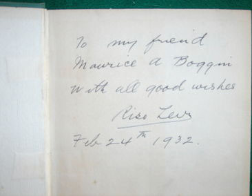 Rare Signed Billiards in the Twentieth Century Book by Riso Levi Book