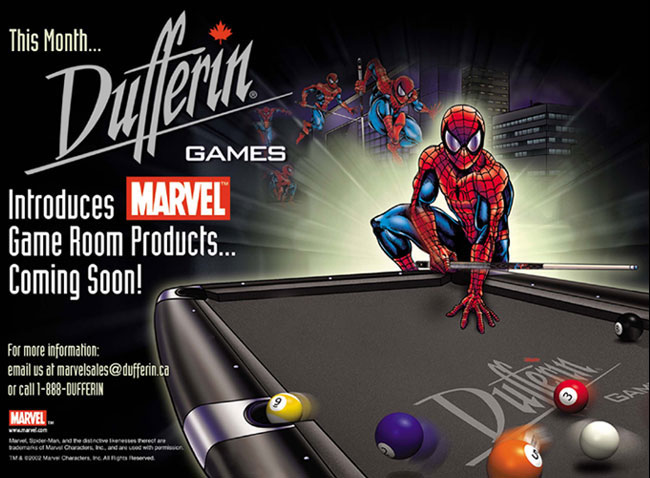 2002 Dufferin Games Spiderman Marvel Comics Promo Image