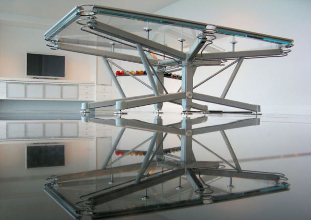 G-1 glass billiard table