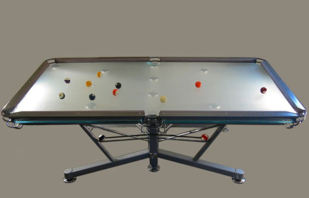 G-1 glass pool table by Nottage Design