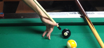 How to do a legal jump shot in billiards - steep angle