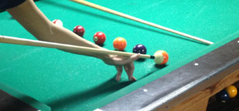 How to do a legal jump shot in billiards - low angle