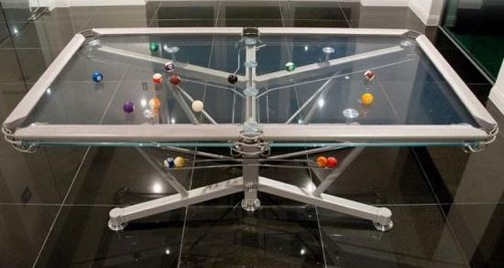 Nottage Design glass pool table