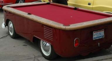 Volkswagen Bus Pool Table Conversion