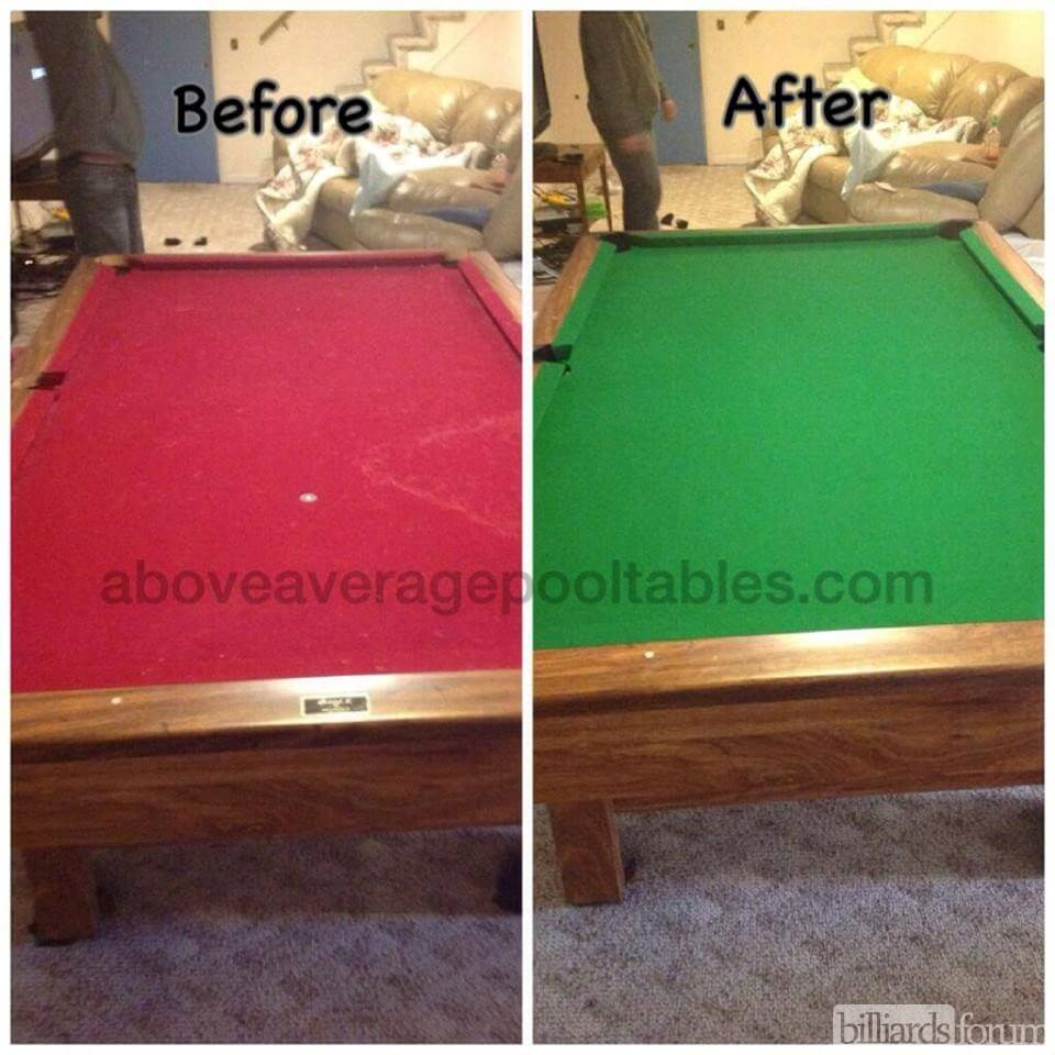 Cloth Replacement By Above Average Pool Tables MA