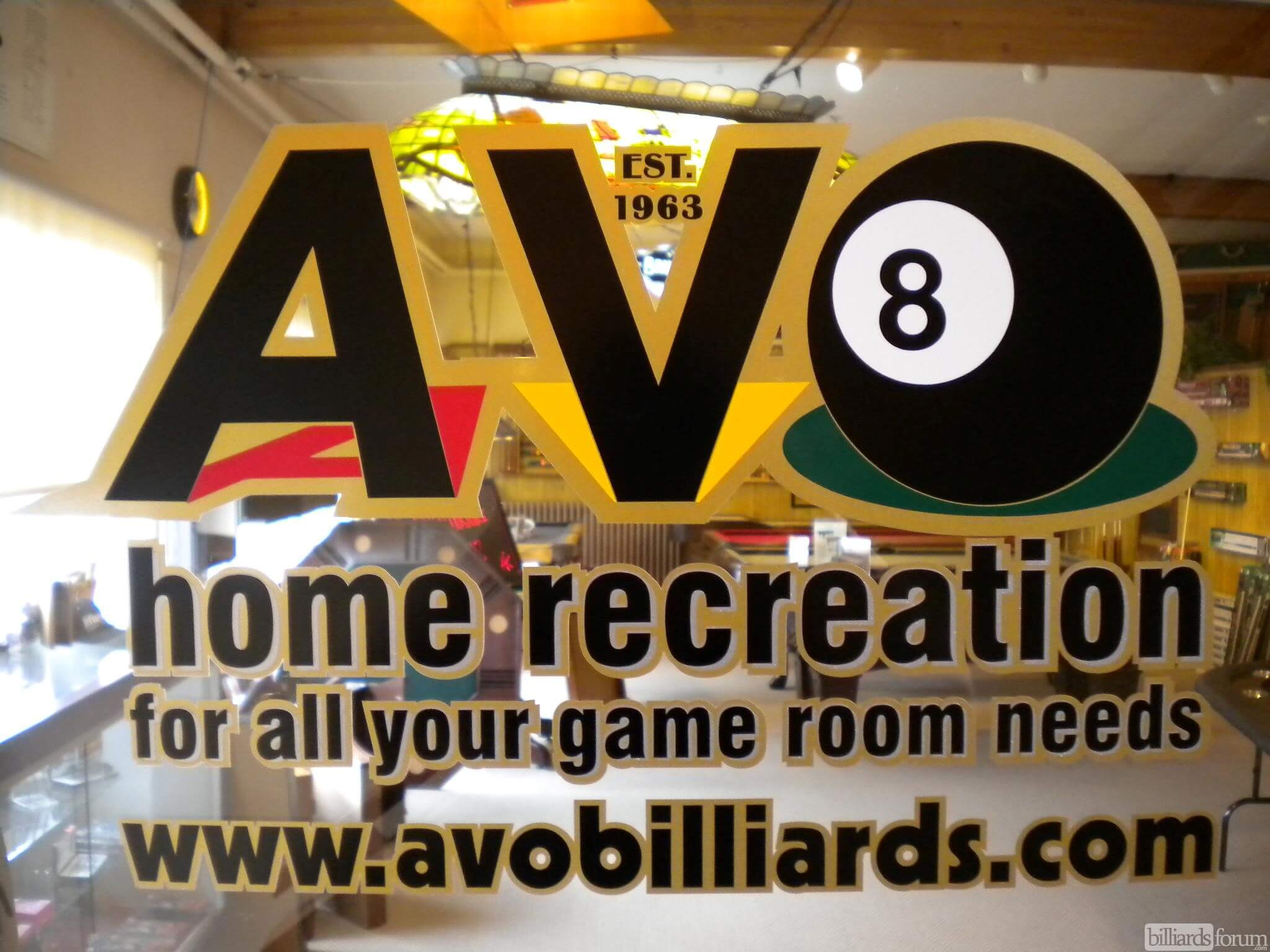 AVO Home Recreation Sign Winnipeg, MB