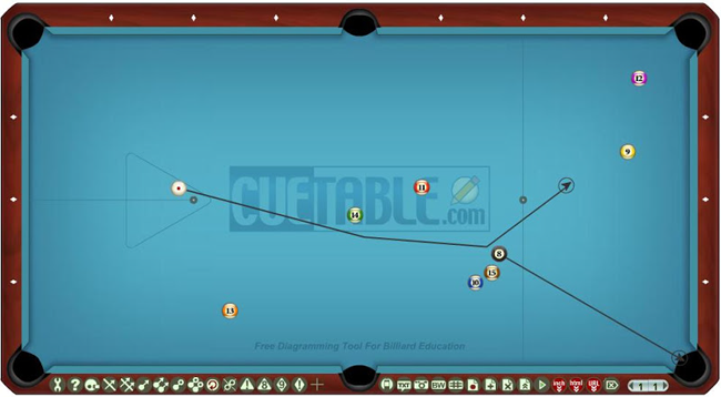 CueTable billiard table diagramming tool