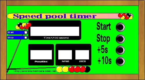 Electronic Billiard Speed Pool Timer Early Mock Up