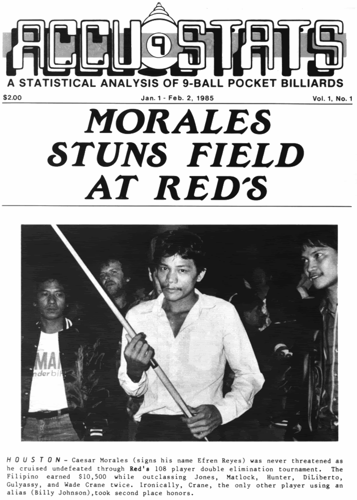 "... Reyes used alias ""Cezar Morales"" as reported by Accu-Stats Feb 1985) ..."