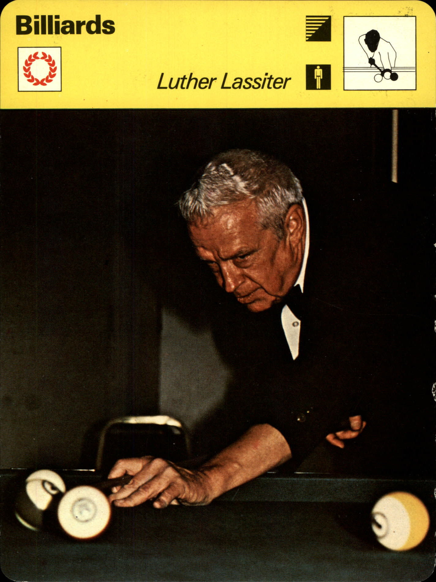 Luther Wimpy Lassiter Sportscaster Card - On the Right Cue - Front