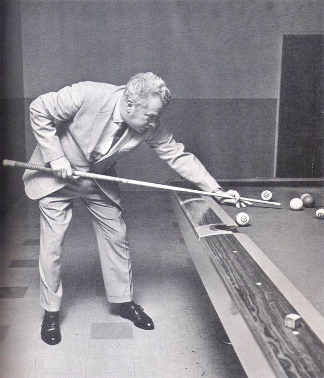 Luther Wimpy Lassiter playing with his Harvey Martin pool cue