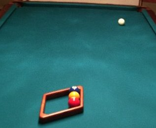Using a 9-ball pool rack for a game of 3-ball
