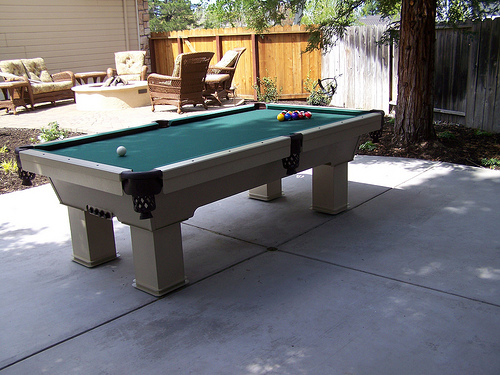 Backyard Outdoor Billiard Table Area