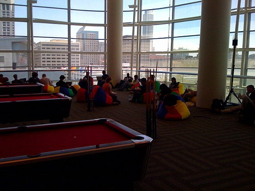 Bean Bags and Pool Tables at Moscone for Google IO