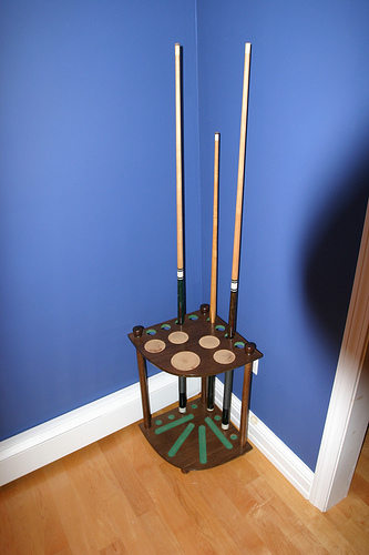 Billiard Cue Rack and Drink Table