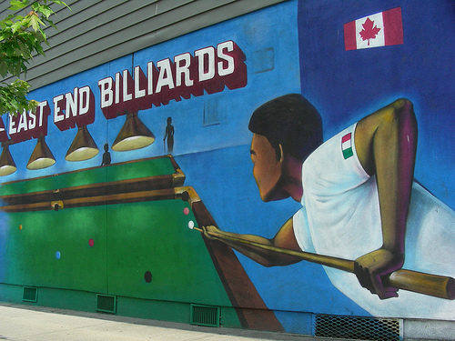 Billiard Mural at Garden and Hastings Vancouver