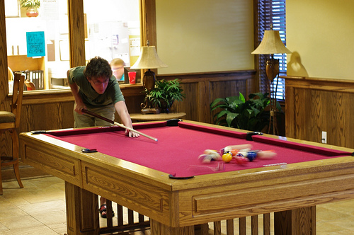 Billiard Table at University of Oklahoma Traditions Square