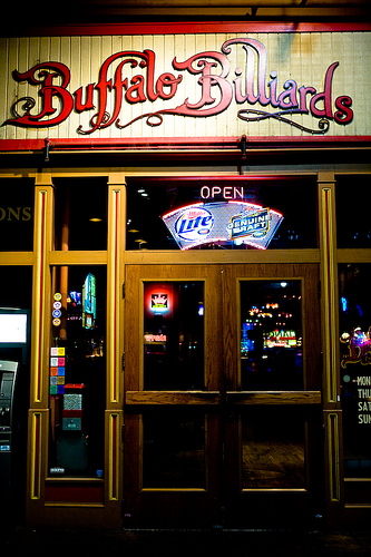 Buffalo Billiards Sign From Outside