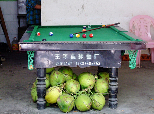 China Outdoor Pool Table in Bad Shape