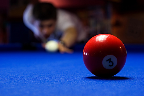 Crisp Blue Pool Table Cloth Contrast