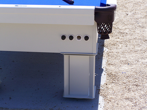 Cue Holder in Outdoor Pool Table