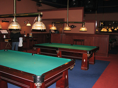 Dave and Busters Billiard Hall Large Table