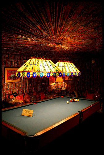 Elvis Graceland Mansion Billiard Room