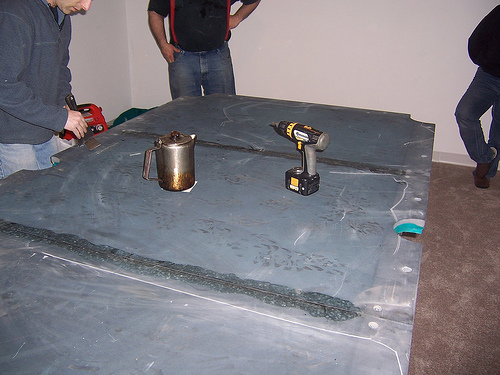 Joining 3 Pool Table Slate Pieces
