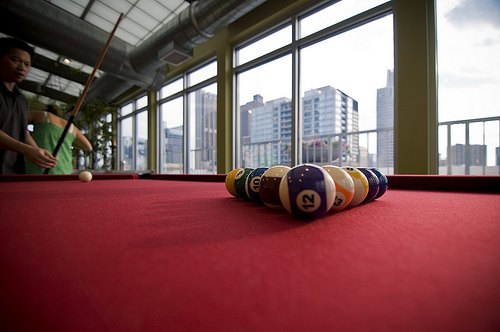 Large Bright Billiard Hall With Great View