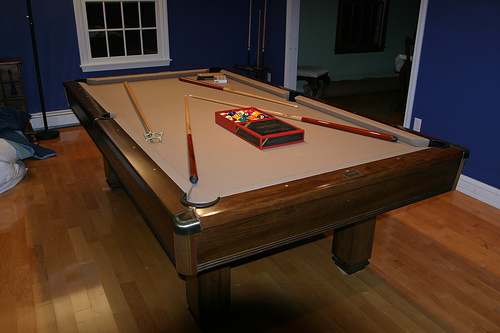Long Pool Table Room