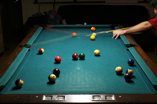 Motion Imagery on Home Billiard Table