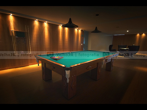 New Home Billiard Room With Ambient Lighting