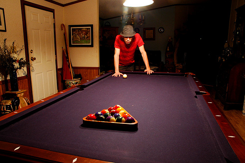 North Carolina Basement Billiard Room