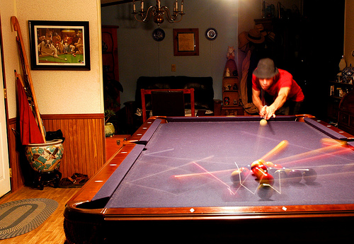 North Carolina Home Billiard Room