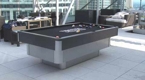Outdoor Chrome Pool Table
