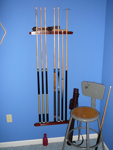 Pool Cue Rack and Home Billiard Accessories