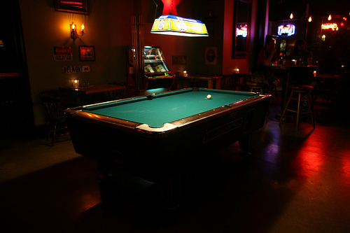 Portland OR Billiard Hall In A Pub