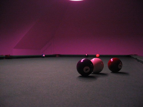 Purple Walls Billiard Room