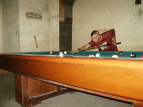 Shooting Pool in Bicol Region Philippines