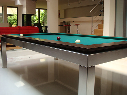 Stainless Steel Carom Table Close Up
