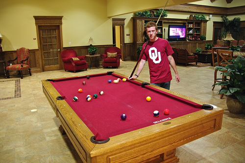 Traditions Square Billiard Room at Oklahoma U