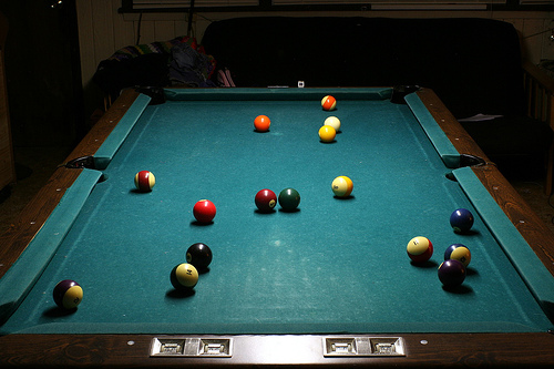 Well Worn Pool Table Cloth