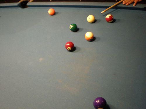 Worn Out and Dirty Pool Table Cloth