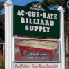 Ac-Cue-Rate Billiards Pelham, NH Street Sign
