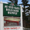Sign of Ac-Cue-Rate Billiards Pelham, NH