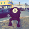 8 Ball Mascot at Dooly's Chicoutimi, QC