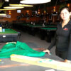 Staff at Dooly's Tracadie-Sheila, NB Re-Clothing Pool Tables