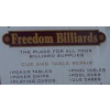 Freedom Billiards Dayton, OH Storefront Sign
